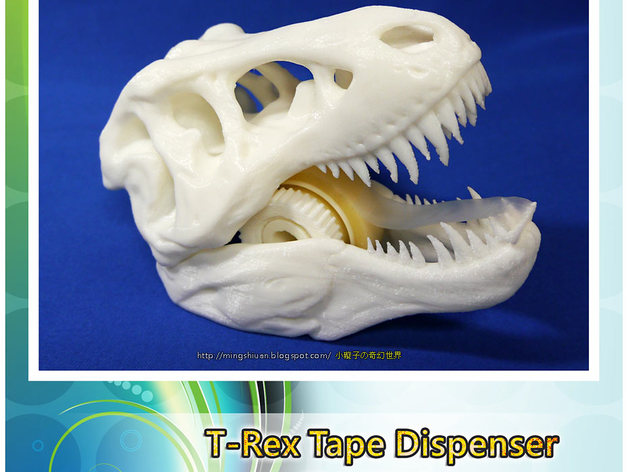 Модель хранителя изоленты в виде головы тиранозавра