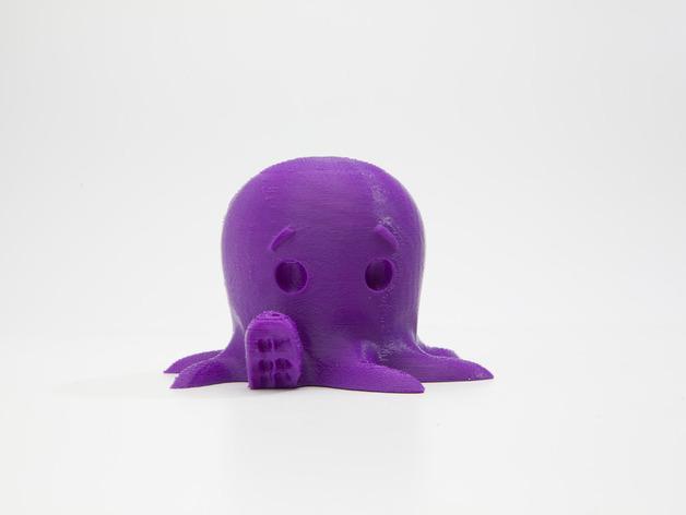 Модель милого осьминога говорит привет