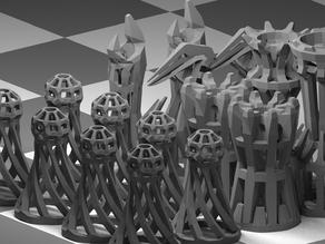Набор шахмат WireFrame (2.0)