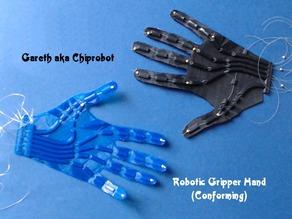 Модель ладони с гибкими пальцами