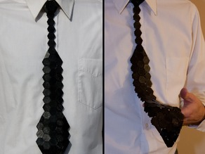 Модель шестигранного галстука