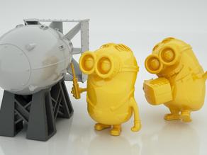 Модель миньона с ракетой