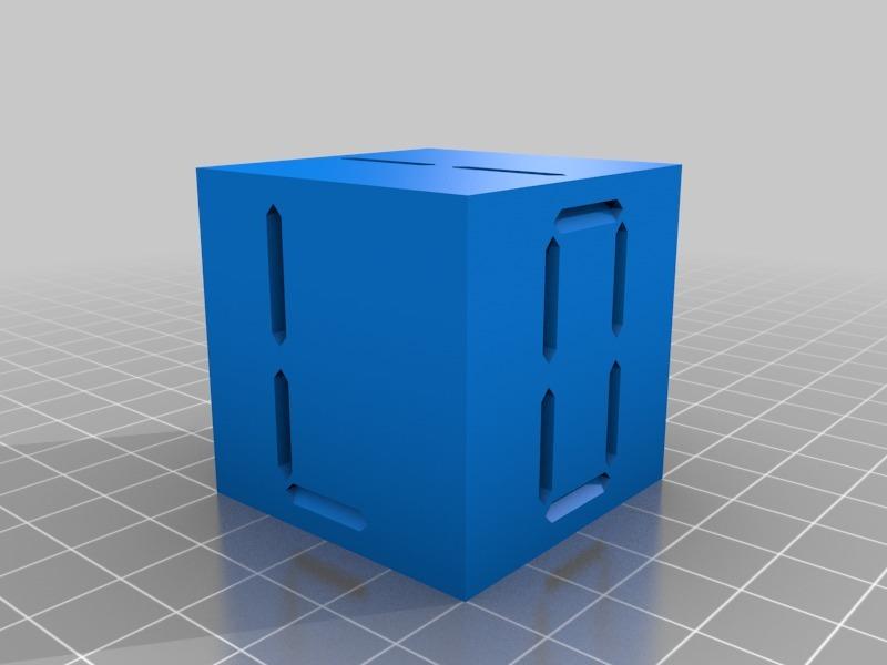 Skeletal cubes 3d model free