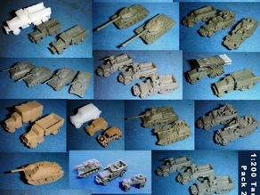 1:200 Набор танков и машин 2
