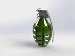 Модель ручной гранаты