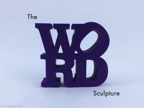 Слово в виде скульптуры