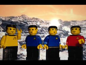 Фигурки лего из стартрека  Kirk, Spock, McCoy, and Scotty