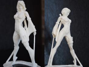Модель девушки-воина Akiko