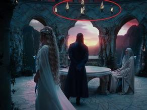 Эльфийская лампа из фильма Властелин Колец