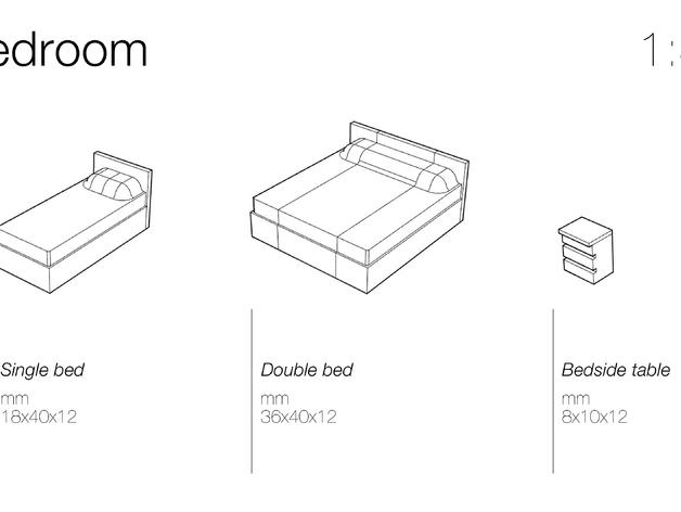 Макеты мебели для спальни