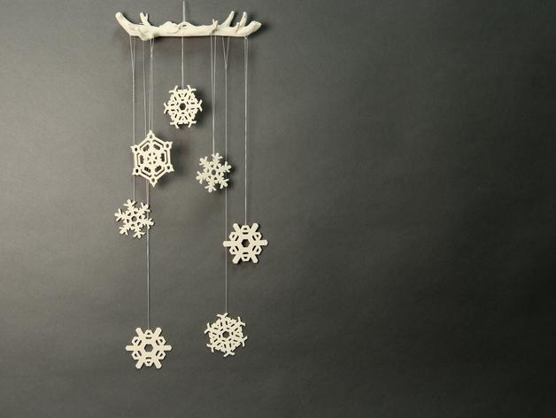 Подвеска для мобильного телефона Снежинка