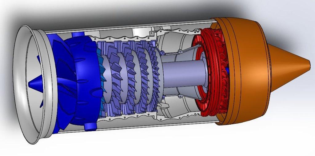 Как сделать двигатель самому турбореактивный двигатель