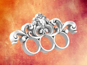 Untitled Three Finger Baroque ring