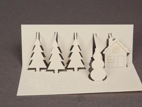 Новогодня 3D открытка